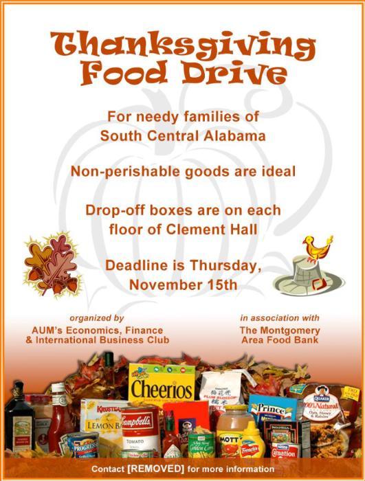 Thanksgiving Food Drive Flyers Food Drive Event Flyerheroes